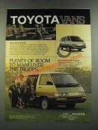 1986 Toyota WonderWagon Van Ad - Maneuver the Troops