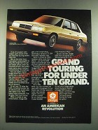 1986 Dodge 600 Car Ad - Grand Touring for Under Ten Grand