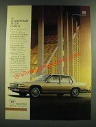 1986 Cadillac De Ville Ad - As Contemporary as it is Cadillac