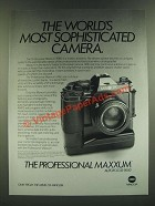 1986 Minolta Maxxum 9000 Camera Ad - The World's Most Sophisticated