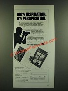 1986 Kodak Guide to 35mm Photography Book Ad - 100% Inspiration