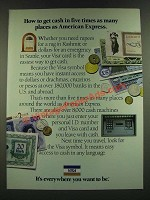 1986 VISA Credit Card Ad - Get Cash in Five Times As Many Places