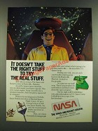 1986 NASA Space and Rocket Center Ad - It Doesn't Take the Right Stuff to Try