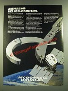 1986 McDonnell Douglas Ad - A Repair Shop Like No Place on Earth