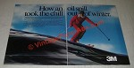 1986 3M Thinsulate Thermal Insulation Ad - An Oil Spill Took The Chill Out
