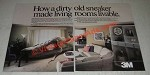 1986 3M Scotchgard Protector Ad - A Dirty Old Sneaker Made Living Rooms Livable