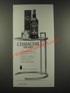 1986 Sandeman Character Sherry Ad - Character Analysis