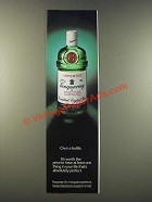 1986 Tanqueray Gin Ad - Own a Bottle