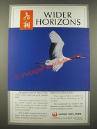 1986 Japan Air Lines Ad - Wider Horizons