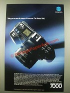 1986 Minolta 7000 Camera Ad - Today You Can Own the Camera of Tomorrow