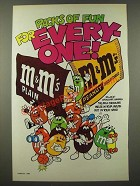 1986 M&M's Chocolate Candies Ad - Packs of Fun for Every-One