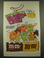1986 M&M's Chocolate Candies Ad - Packs of Fun for Every-One - Gymnast