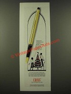 1986 Cross Fountain Pen Ad - Signing My Thank You Notes