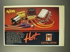 1986 Custom Chrome Accel Accessories Ad - Hot
