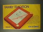 1986 Ohio Art Etch a Sketch Ad - Family Tradition