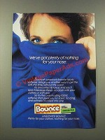 1986 Bounce Fabric Softener Ad - We've Got Plenty of Nothing For Your Nose
