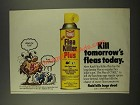 1986 Raid Flea Killer Plus Ad - Kill Tomorrow's Fleas Today