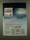 1986 Phillips LaxCaps Ad - Has a Softener