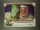 1986 Diet Sprite and Diet Coke Ad - Great Taste Without Paying The Price