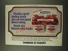 1986 Dannon Mini-Packs Yogurt Ad - You Can Feel Good About Eating