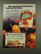 1986 Sunkist Fun Fruits Ad - Real Fun For Kids