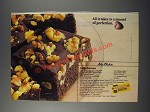 1986 Nestle Semi-Sweet Chocolate Morsels Ad - No Bake Fudge Brownies recipe
