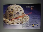 1986 Nestle Little Bits Semi-Sweet Chocolate Ad - Toll House Quick Ice Cream