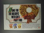 1986 Ralston Wheat, Rice and Corn Chex Ad - Home For The Holidays