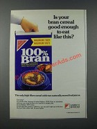1986 Nabisco 100% Bran Cereal Ad - Is Your Bran Cereal Good Enough