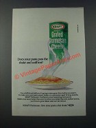 1986 Kraft Grated Parmesan Cheese Ad - Shake and Sniff Test