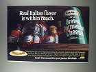 1986 Kraft Grated Parmesan Cheese Ad - Real Italian Flavor is Within Reach