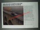 1986 Mercedes-Benz Cars Ad - European Delivery: Add Pleasure, Subtract Expense
