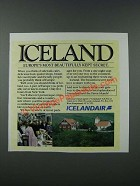 1986 Icelandair Airline Ad - Europe's Most Beautifully Kept Secret