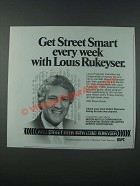 1986 PBS Wall Street Week with Louis Rukeyser Show Ad - Get Street Smart