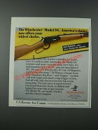 1986 Winchester Model 94 Rifle Ad - America's Choice Offers Widest Choice