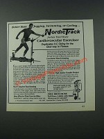 1986 NordicTrack Cardiovascular Exerciser Ad - Better Than Jogging