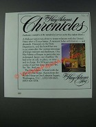 1986 The Hay-Adams Hotel Ad - Chronicles No. 4