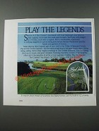 1986 The Cloister's Sea Island Golf Club Ad - Play the Legends