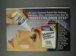 1986 Bausch & Lomb Moisture Drops Ad - Instant Relief for Itching