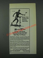1986 NordicTrack Cardiovascular Exerciser Ad - Better Than Cycles