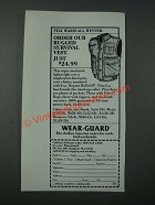 1986 Wear-Guard Rugged Survival Vest Ad - Stay Warm All Winter