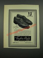 1938 Taylor-Made Picadilly Brogue Shoes Ad - Character in Shoes