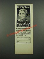 1938 Western Electric Hearing Aid Ortho-technic Model Ad - Hearing Ease