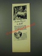 1938 H&W Strapless Glamour and Wistful Bra Ad