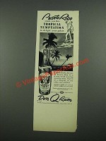 1938 Don Q Rum Ad - Puerto Rico Sends You This Tropical Temptation