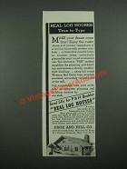1938 Page and Hill Real Log Houses Ad - True to Type