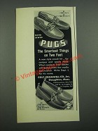 1938 Colt-Cromwell Pugs Shoes Ad - #7829, 7845, 7834 and 7844
