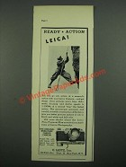 1938 Leica Model IIIB Camera Ad - Ready Action Leica!