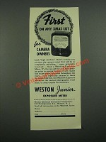 1938 Weston Junior Exposure Meter Ad - First on Any Xmas List