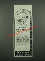 1938 Lea & Perrins Worcestershire Sauce Ad - What is a Love Apple?